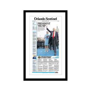 """Orlando Sentinel 1/21/2017 """"President Trump"""" Front Page Poster"""
