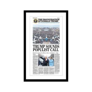 """Orlando Sentinel 1/21/2017 """"Trump Sounds Populist Call"""" Commemorative Poster"""