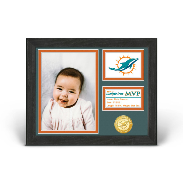 reputable site 5d382 60a98 Miami Dolphins Baby MVP Personalized Photo Frame | Shop ...
