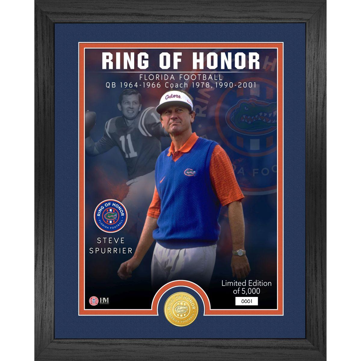 Steve Spurrier Florida Gators 2021 Ring of Honor Bronze Coin Photo Mint