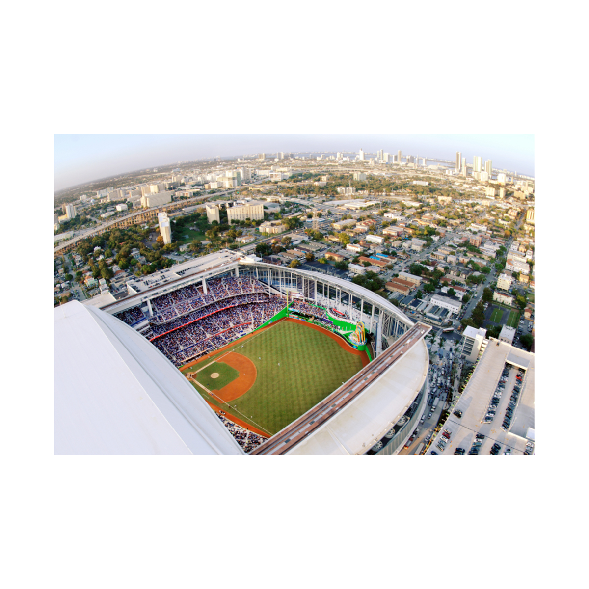 Aerials: Marlins Opening Day