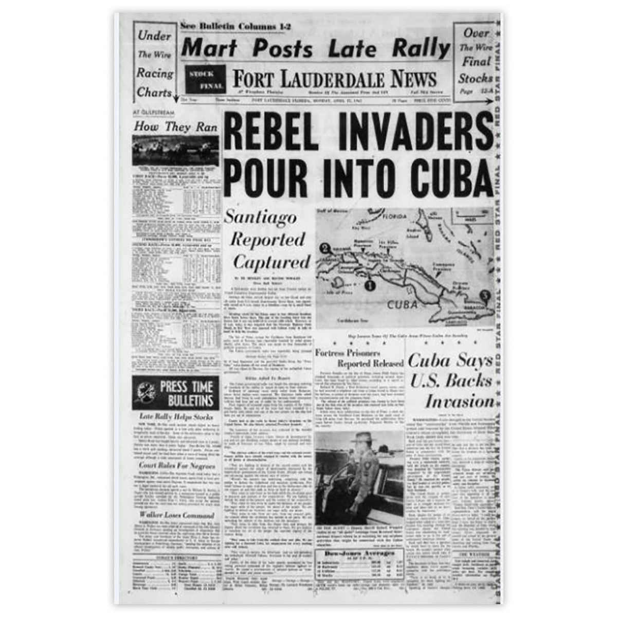 "Commemorative Front Page: ""Rebel Invaders"""