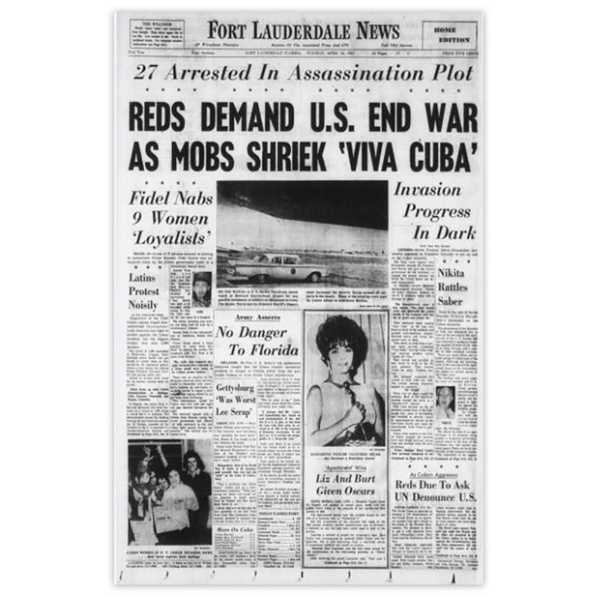 Commemorative Front Page: 'Viva Cuba'