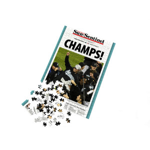 "Miami Marlins ""Champs"" Front Page Jigsaw Puzzle"