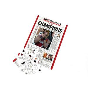 "Miami Heat 2006 NBA Championship ""Champions"" Front Page Jigsaw Puzzle"