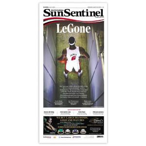 Commemorative Front Page: 'LeGone'