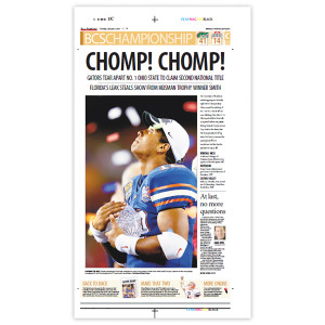 Commemorative Front Page: FL Gators 2nd National Title
