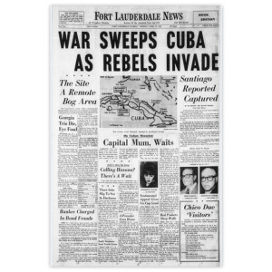 "Commemorative Front Page: ""War Sweeps Cuba"""