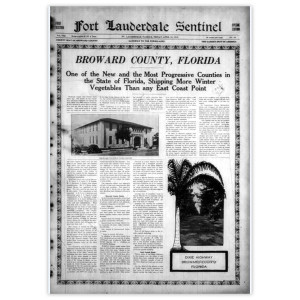 "Commemorative Front Page: ""Broward County"""