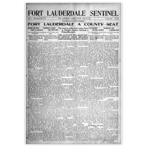 "Commemorative Front Page: ""Fort Lauderdale A County Seat"""