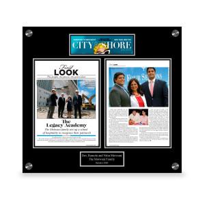 City & Shore Magazine Article Plaque