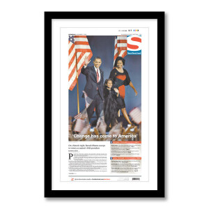 """""""'Change has come to America'"""" 11/5/2008 Page Print"""