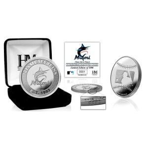 Miami Marlins Silver Mint Coin