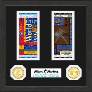 Miami Marlins World Series Ticket Collection