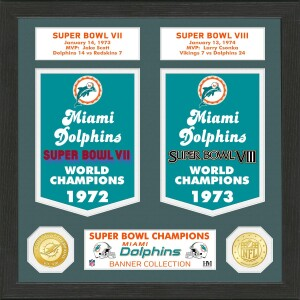 Miami Dolphins Super Bowl Banner Collection Bronze Coin Photo Mint