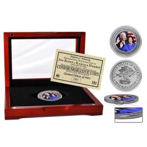 Joe Biden and Kamala Harris Inauguration 1oz .999 Fine Silver Coin