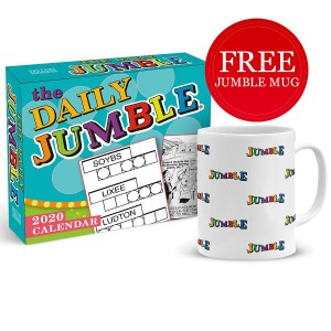 The Daily Jumble 2020 Boxed Daily Calendar With Free Jumble All Over Mug