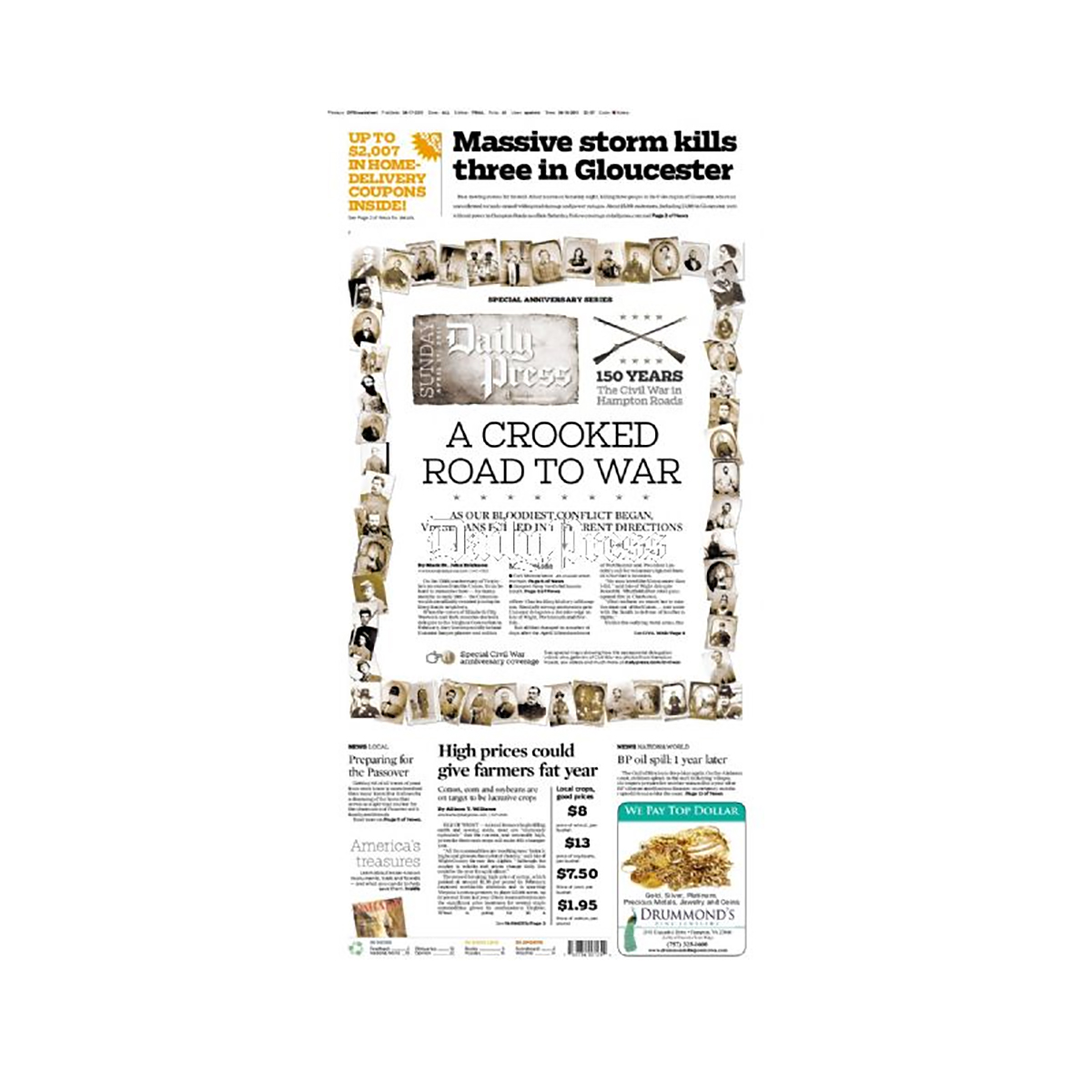 Commemorative Front Page: Crooked Road to War
