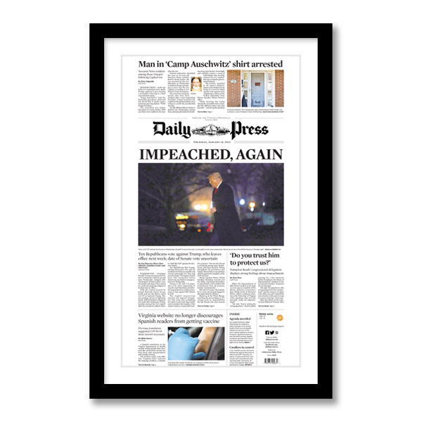 """""""Impeached, Again"""" 1/14/2021 Page Print"""
