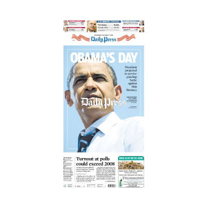 Commemorative Front Page: Barack Obama 2012