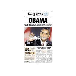 Commemorative Front Page: 2008 Barack Obama Victory