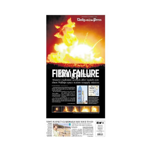 Commemorative Front Page: Fiery Failure