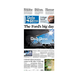 Commemorative Front Page: Ford's Christening