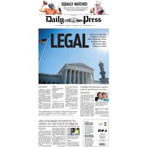 Commemorative Front Page: Legalizing Same-Sex Marriage