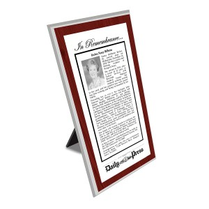 Daily Press Keepsake Obituary Plaque