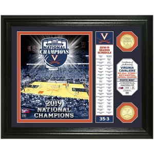 University of Virginia 2019 NCAA Men's Basketball Champions Banner Bronze Coin Photo Mint