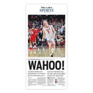 Virginia Cavaliers 2019 NCAA Championship Sports Page Print