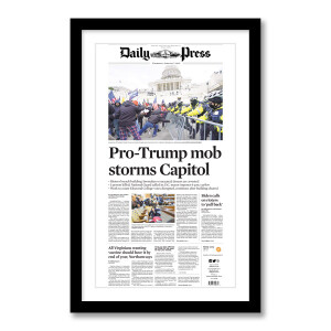 """Pro-Trump mob storms Capitol"" 1/7/2021 Page Print"