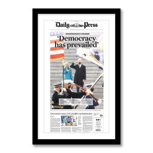 """""""Democracy Has Prevailed"""" 1/21/2021 Page Print"""