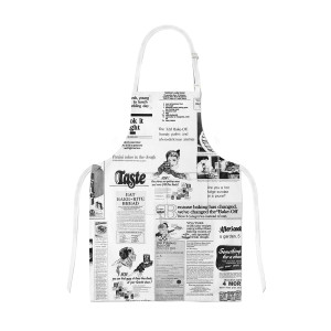 Retro Newsprint Apron