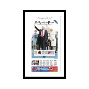 "Daily Press 1/21/2017 ""Inaugural Special'"" Front Page Poster"
