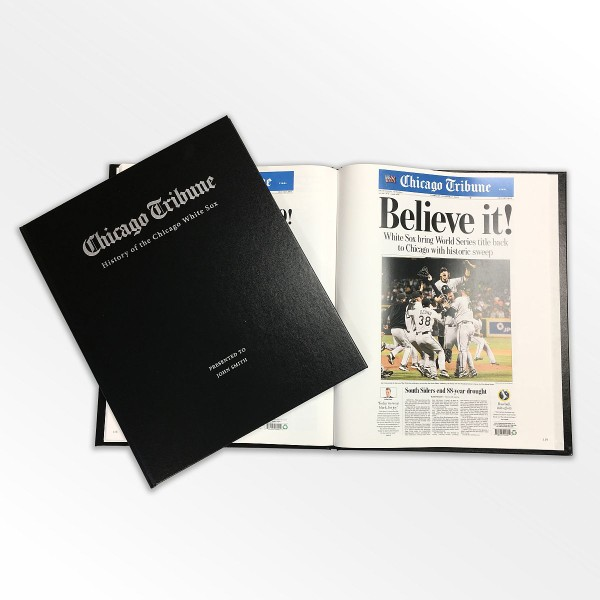"""premium selection 76a95 a81fd """"History of the Chicago White Sox"""" Newspaper Book 