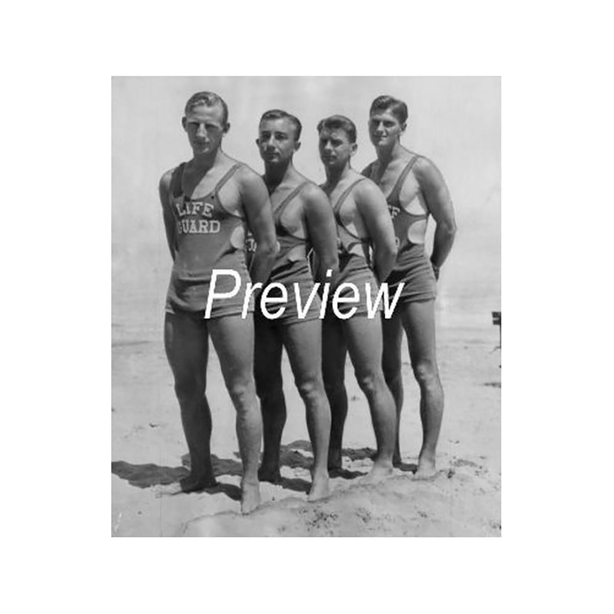 Chicago Lifeguards Photograph (1933)