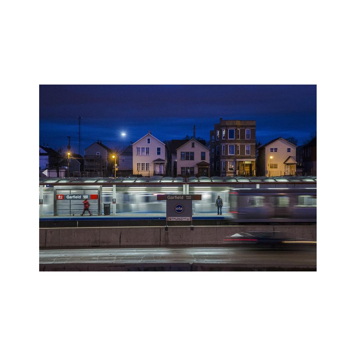 CTA Red Line, Garfield Stop Photograph