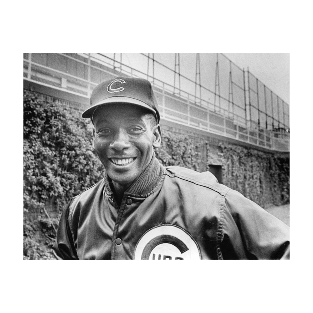 Ernie Banks at Wrigley Field 1970 Photograph