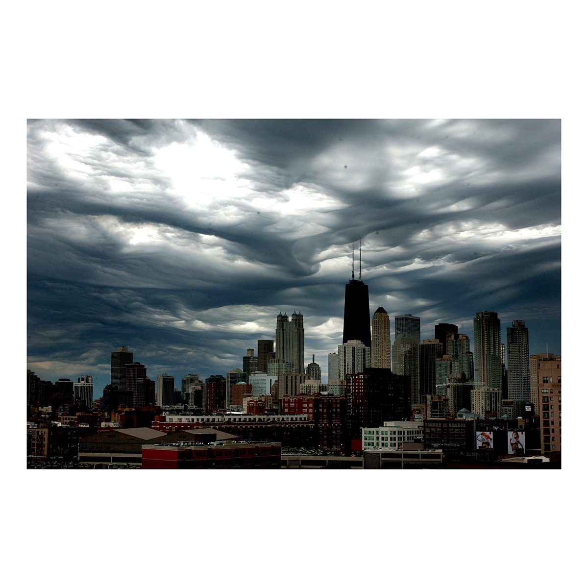 Low-Hanging Chicago Storm Clouds Photograph