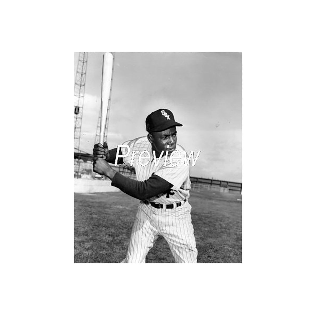 Minnie Minoso Tribute: 1955 At-Bat Pose Photograph