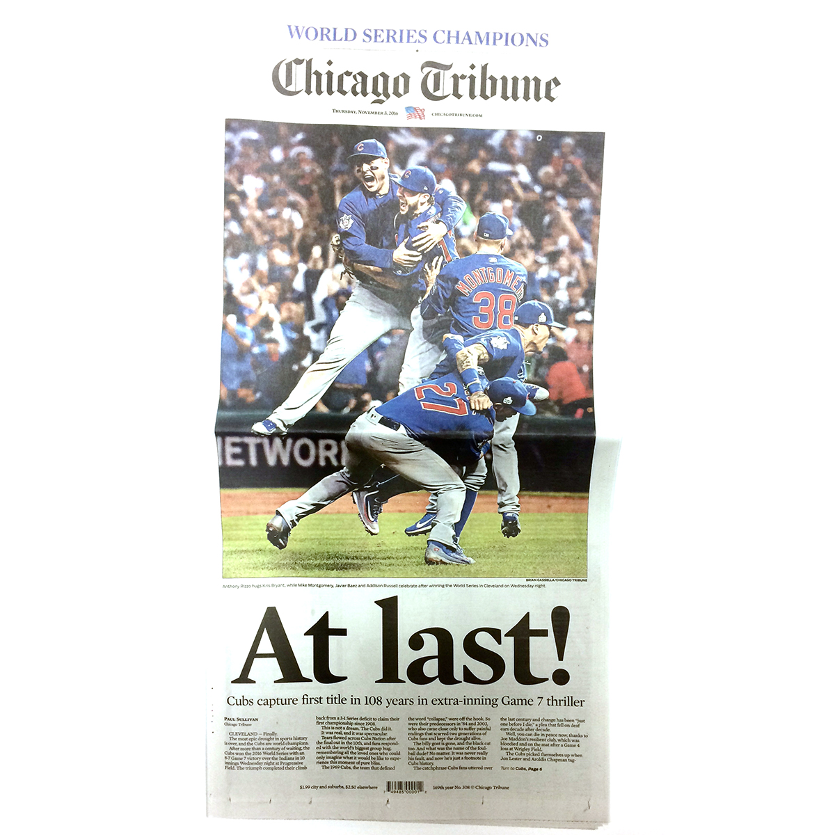 Chicago Tribune 11/3/2016 Back Issue