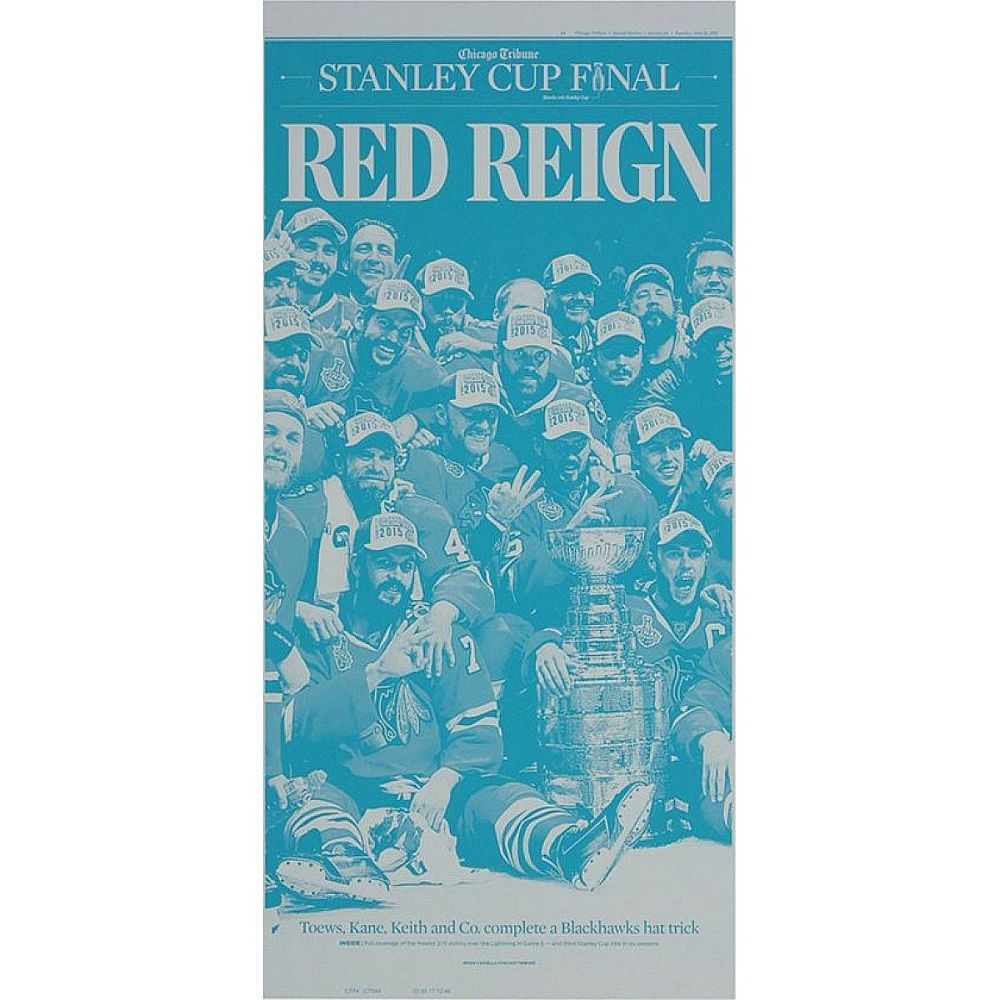 "Chicago Blackhawks 6/16/2015 Stanley Cup ""Red Reign"" Press Plate"