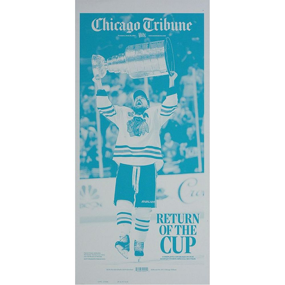 "Chicago Blackhawks 6/25/2013 Stanley Cup ""Return of the Cup"" Press Plate"