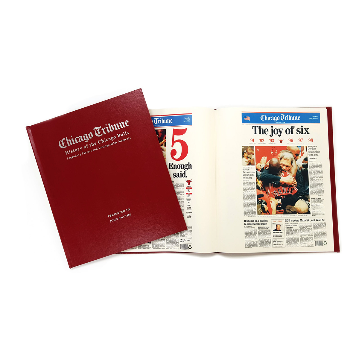 """History of the Chicago Bulls"" Personalized Newspaper Book"