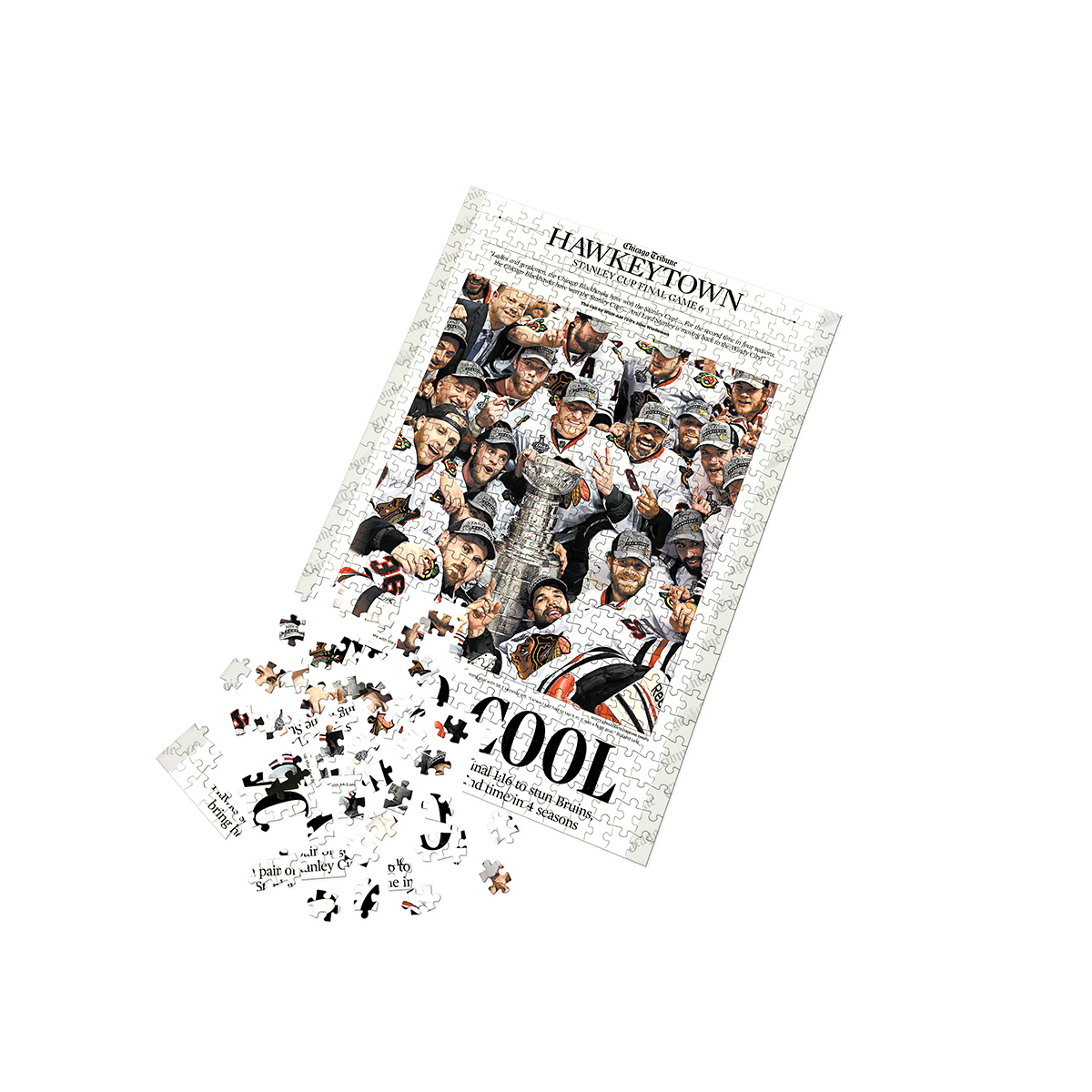 "Chicago Blackhawks 2013 Stanley Cup ""Two Cool"" Front Page Jigsaw Puzzle"