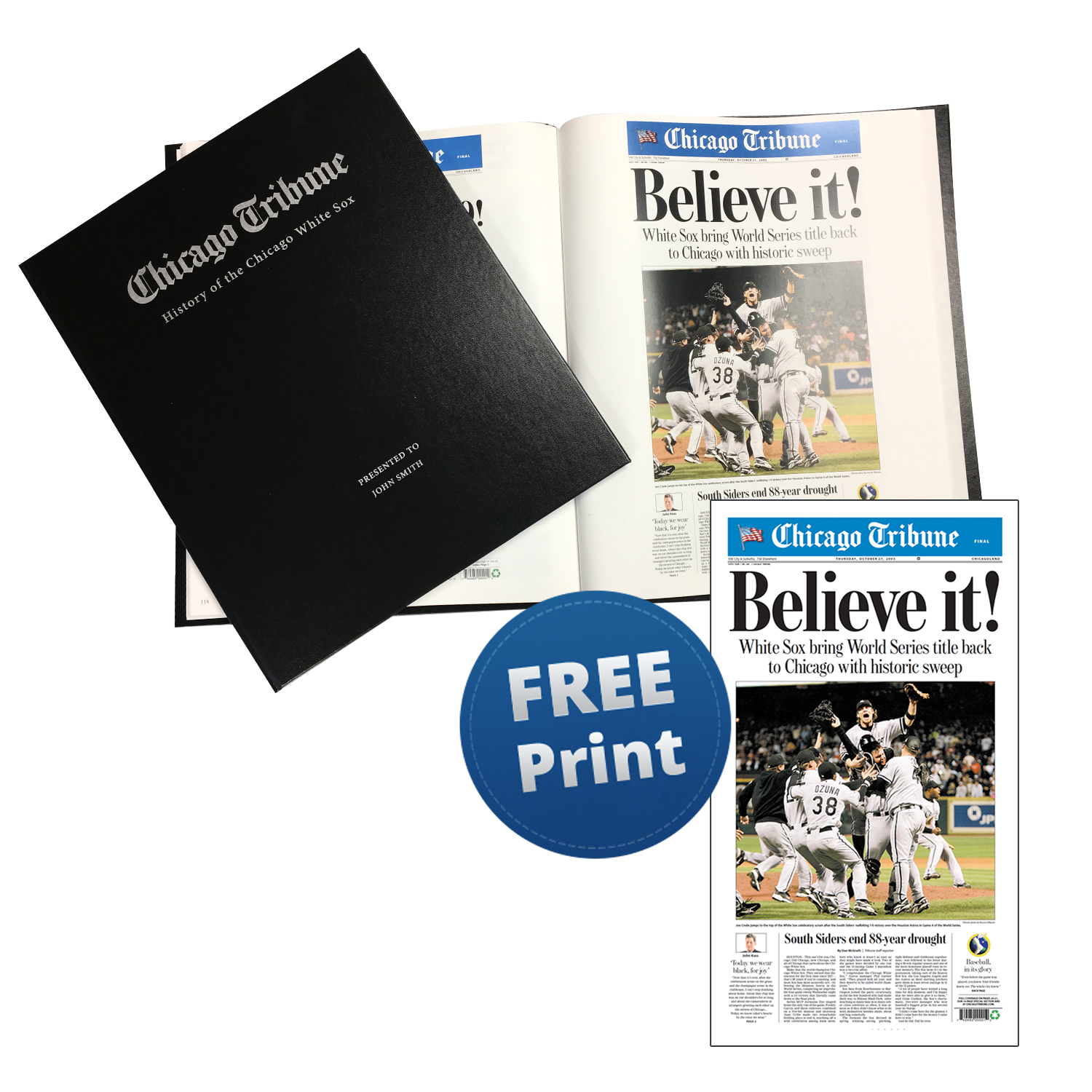 """""""History of the Chicago White Sox"""" Newspaper Book"""