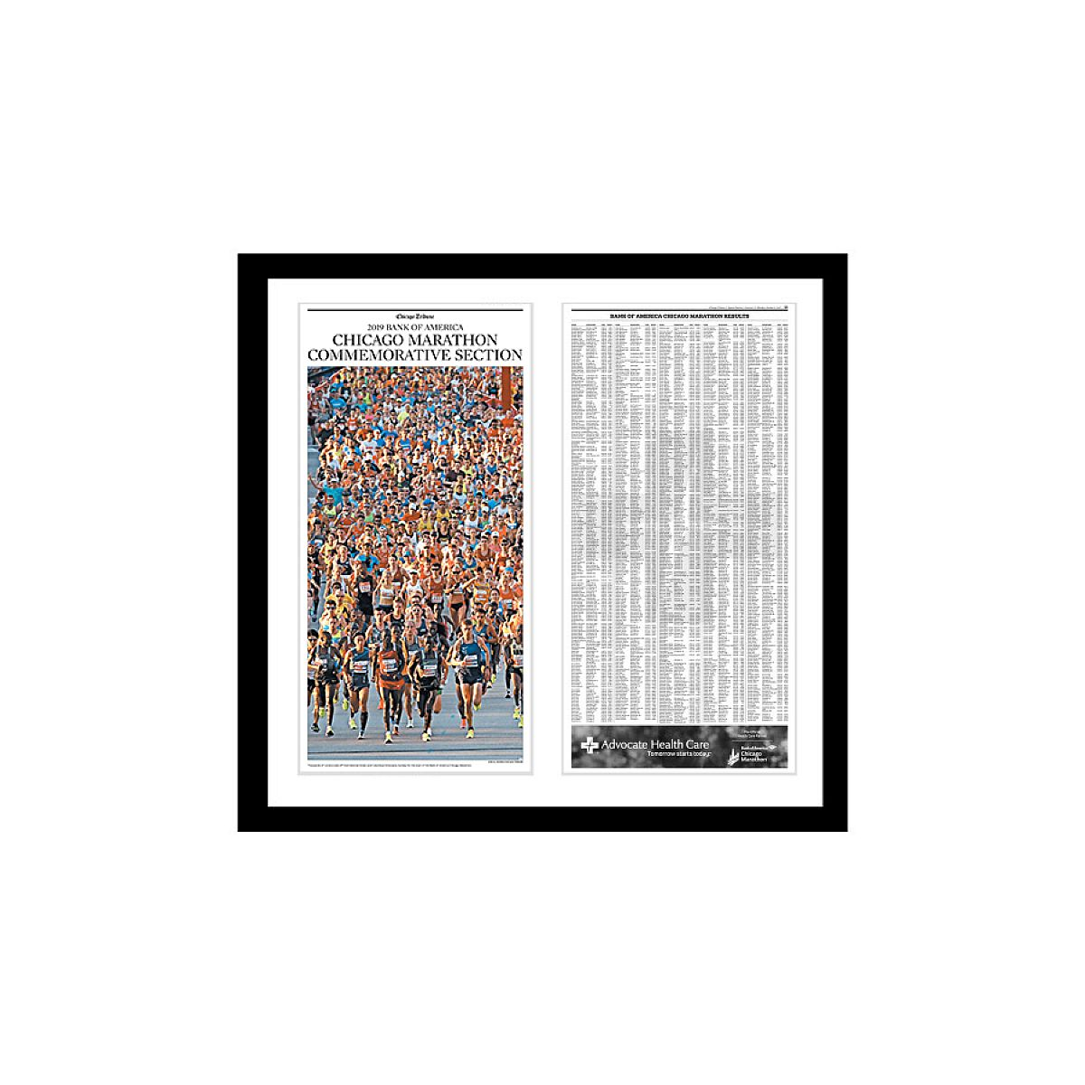 2019 Chicago Marathon Commemorative Results Print