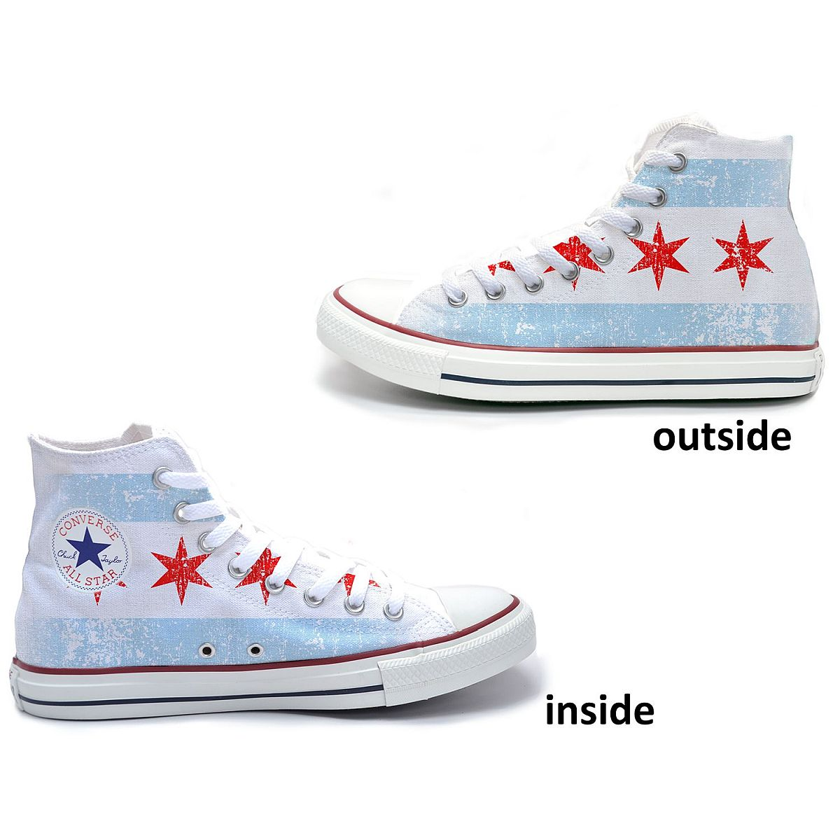 Chicago Flag Converse All-Star High Top