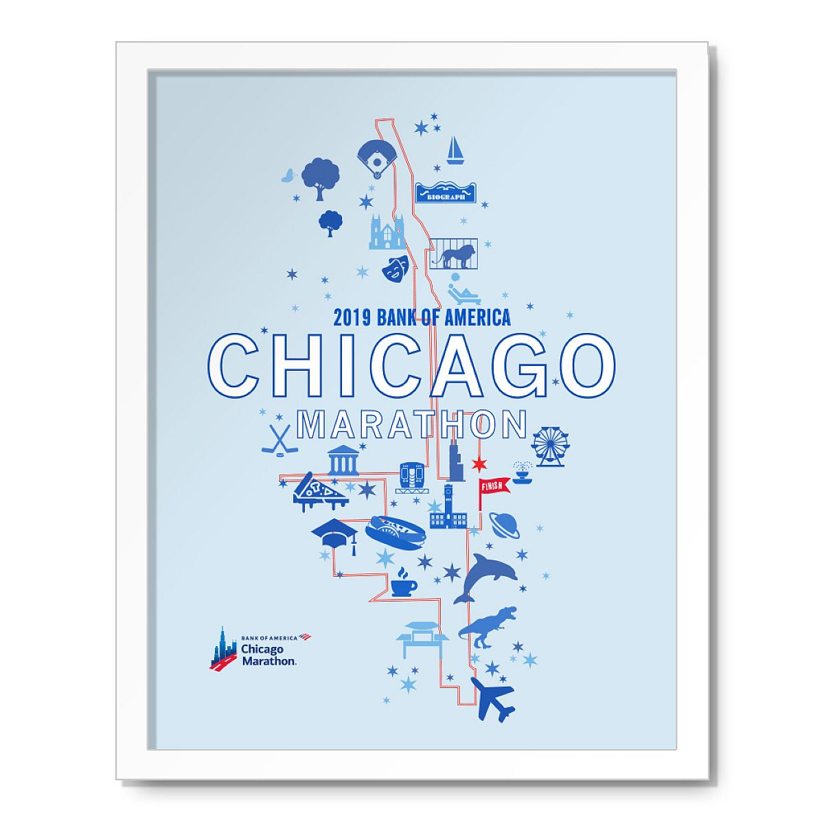 2019 Bank of America Chicago Marathon Map